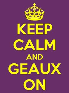 I still love my Tigers, undefeated regular season and SEC Champs! Geaux Tigers!