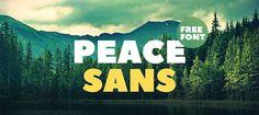 Des1gn ON | 7 Fontes Novas que você não pode ficar sem - Junho 2016 - Peace Sans