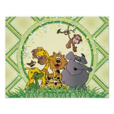 #DesignsByDonnaSiggy #Safari #Jungle #Baby #Animals #Nursery #Theme #gifts #baby #zazzlebesties #zazzle.com #Poster