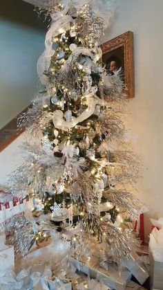 My silver and white Christmas Tree...2016!