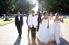 wedding party ivory tuxedo bridal party - Google Search