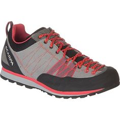 Scarpa Women's Crux Canvas Approach Shoe, Grey/Red, 38 EU/7 M US >>> Check out this great product.
