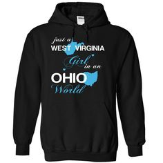 Best gift - WVJustXanh001 Just A West Virginia Girl In A Ohio World T-shirt/mug BLACK/NAVY/PINK/WHITE M/L/XL/XXL/3XL/4XL/5XL