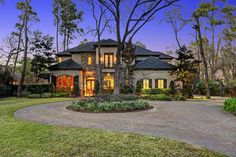 Stunning Tuscan-inspired home by award-winning builder Charles Martin on one-of-a-kind Acre+ cul-de-sac lot in Hunters Creek Village. 5/6 beds, 5/2 baths,...