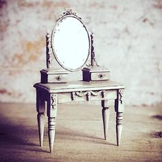 Miniature Gustavian Vanity Dollhouse Furniture 1.12 Scale