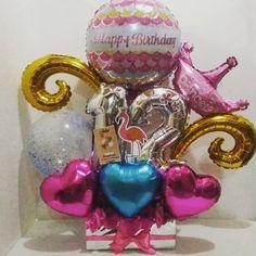 Diy Birthday, Birthday Gifts, Happy Birthday, Instagram Accounts, Instagram Posts, Balloon Gift, Desktop Organization, Balloon Bouquet, Buisness
