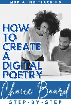 Don't let the words DIGITAL, or CHOICE BOARD, freak you out. This is an easy, step by step instruction to how to create your very own choice board! It is just five quick and easy steps and VOILA! You have your very own choice board you can share amongst your students and/or colleagues!! Teaching Poetry, Teaching Language Arts, Digital Poetry, English Lesson Plans, Poetry Month, Middle School English, English Classroom, English Language, High School