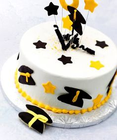 Wake Forest themed graduation cakes from Dewey's, a local bakery