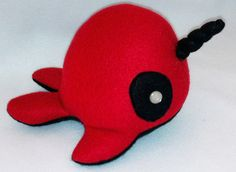Narpool (Deadpool Narwhal) Plush Toy by MythfitCreations on Etsy https://www.etsy.com/listing/119190223/narpool-deadpool-narwhal-plush-toy