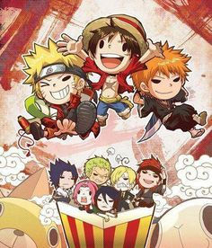 One Piece - Naruto - Bleach