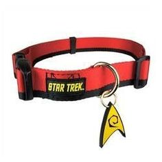 Star Trek Dog Collar Red XL - Boldly go where no other dog has gone before
