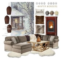 """""""Winter in Watercolor"""" by celeste-menezes ❤ liked on Polyvore featuring interior, interiors, interior design, home, home decor, interior decorating, UGG Australia, Best Home Fashion, Jayson Home and Fredrick Ramond"""