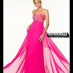 Mori Lee Hot Pink Prom Pageant Dress Nwt