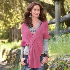 Sundance catalog - Crisscross Wrap. Looks simple enough to knit... like it in a color as opposed to a neutral.