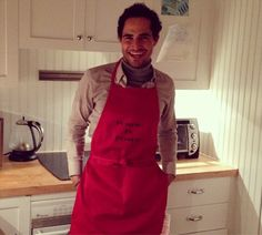 #Regram thank you for the fun #birthday gift apron @stylishsarahnyc #cookingwithzac