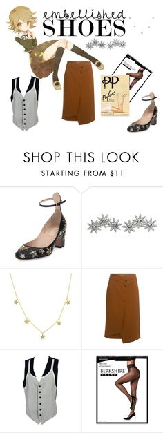 """me? sexy 20th century?"" by sakakashi ❤ liked on Polyvore featuring Valentino, Apples & Figs, Anne Sisteron, TIBI, Moschino, Berkshire and Pretty Polly"