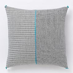 Chindi Colorblock Shag Pillow Cover - Poppy