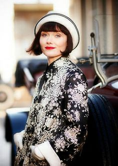 Essie Davis in '20's fashion mode - 'Miss Fisher's, Murder Mysteries'.