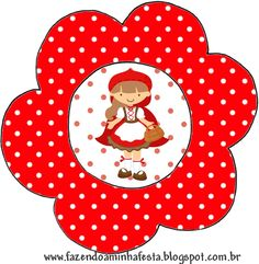 Fazendo a Minha Festa!: Chapeuzinho Vermelho - Kit Completo com molduras para convites, rótulos para guloseimas, lembrancinhas e imagens!