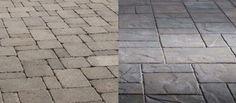 Which Belgard paver do you like better - Dublin (left) or Lafitt Rustic Slab (right)?