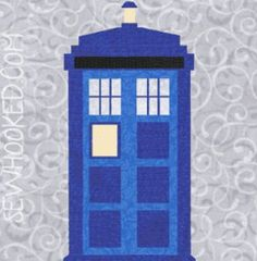 Get ready to send your quilt through time and space with a Dr. Who inspired paper piecing pattern featuring the iconic TARDIS from @Jennifer Ofenstein.