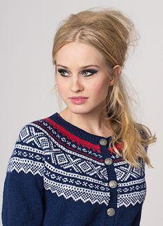 "Ravelry: Nr 3 ""Marius"" kofte med rundt bærestykke pattern by Unn Søiland Dale Cardigan Design, Cardigan Pattern, Fair Isle Knitting, Hand Knitting, Easy Scarf Knitting Patterns, Norwegian Knitting, Nordic Sweater, Textiles, Knit Crochet"