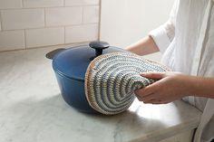 Swirls Crocheted Pot Holder by Stacey Winklepleck