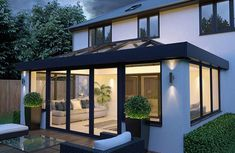 Get inspiration and Conservatory examples with our Gallery page, whether it's for a conservatory, orangery, roof lanterns or Kitchen extension. Bungalow Extensions, House, Garden Room Extensions, House Exterior, Flat Roof Extension, Contemporary Lanterns, Sunroom Designs, Roof Light, Modern Garden Design