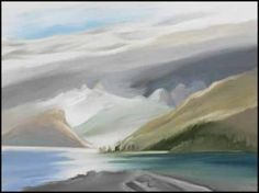 Toni Onley - 1928-2004. Love his paintings: 'Toni Onley, OC; was a Canadian painter noted for his landscapes and abstract works. Born in Douglas on the Isle of Man, he moved to Canada in 1948, and lived in Brantford, Ontario.' (Wikipedia)