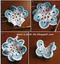 How to weave crochet butterflies to step by step | Step by Step
