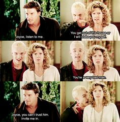 Buffy the Vampire Slayer. Spike kills me! Joss Whedon, Buffy The Vampire Slayer Funny, Fangirl, Spike Buffy, Chibi, Otaku, Bad Boy, Buffy Summers, Sarah Michelle Gellar