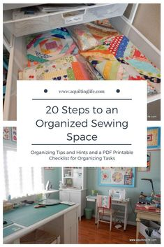 100 Brilliant Projects to Upcycle Leftover Fabric Scraps - Estabul Sewing Room Organization, Organization Hacks, Sewing Projects For Beginners, Sewing Tutorials, Sewing Tips, Fat Quarter Projects, Sewing Spaces, Leftover Fabric, Fat Quarters