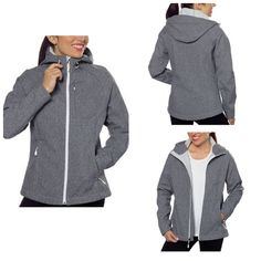 Heather Gray Hardshell Jacket Super cute hard shell jacket that's perfect to wear on the go! Light weight and comfortable. Size XL. Fits true to size. Excellent condition. ***No Trades*** Kirkland Jackets & Coats