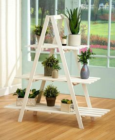 3 Tier A Frame Wood Shelf Graduated Widths Hinged Folds for Storage Home Decor - March 03 2019 at Wooden Pallet Projects, Wooden Pallet Furniture, Wooden Pallets, Pallet Wood, Pallet Seating, Pallet Ideas, Pallet Chair, Pallet Tables, Outdoor Pallet