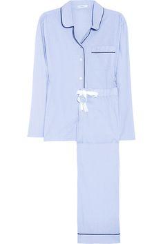 J.Crew|Piped cotton pajama set|NET-A-PORTER.COM