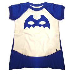 Masked Crusader Short Sleeve T-Shirt Cream & Blue