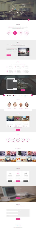 BrandaLoka - Creative Onepage PSD Template on Web Design Served