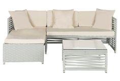 Nina 3-Piece Lounge Set, Beige/White