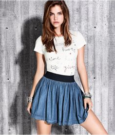 Blue skirt. From H&M €14,95