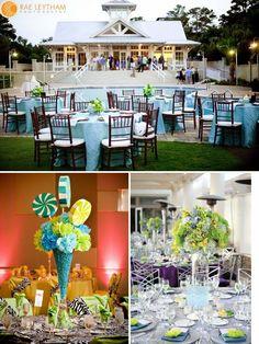 love the idea of a poolside wedding