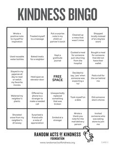 Looking for a fun game to play with your friends (or by yourself)? Download our Kindness Bingo cards, pick a random one and each time you do a kind act listed on the board, mark it off. A complete row wins! 🎉💗 Fun Games, Games To Play, Kindness Ideas, Bingo Cards, Thats Not My, Acting, Positivity, Random, Friends