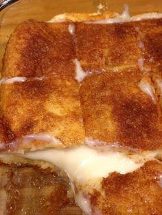 Cream cheese squares.