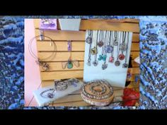 Where to find Maike's Marvels wax and wire jewelry and wall collages