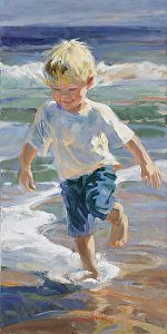 Going There by Corinne Hartley Oil ~ 24 x 12
