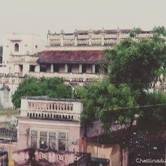 Chettinad Villa ! #art #architecture #rainy #karaikudi
