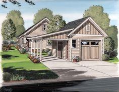 Battle shack Garage Plan 30505 Bungalow Cottage Craftsman Plan 1 Bathrooms 2 Car Garage at family home plans Garage House, Garage Préfabriqué, 2 Car Garage Plans, Carport Plans, Br House, Shed Plans, Garage Ideas, Garage Storage, Detached Garage Plans