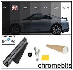 Pro Anti Scratch Car Van Window Tint Film Tinting Dark Black Limo