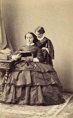 Charlotte Bonaparte, Comtesse Pietro Primoli de Foglio (1832-1901), taken by Disderi with her son in 1859