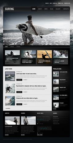 Surfing Moto CMS HTML Template #blog #sport #travel #outdor #website http://www.templatemonster.com/moto-cms-html-templates/40323.html?utm_source=pinterest&utm_medium=timeline&utm_campaign=sm