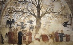medieval pics and paintings | Italian art experts who restored a cryptic medieval fresco depicting ...